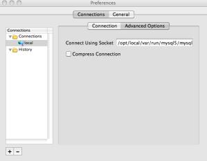 Setting MySQL socket location